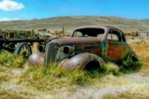 Car Towed The Ghost Town of Bodie, California