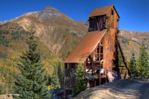 Yankee Girl Mine along Colorado's Million Dollar Highway