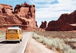 Campervan in Arches National Park