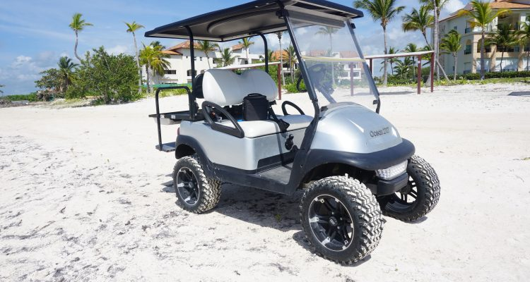gray and white golf cart accesories