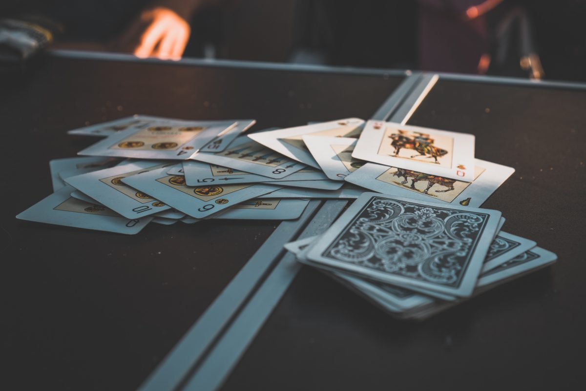 playing cards on the table