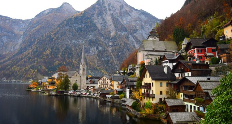 Austria city beside body of water during daytime