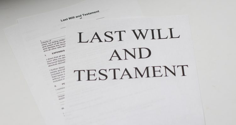 Life Insurance last will and testament white printer paper