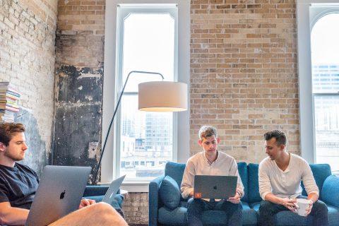 Hygiene Tips three men using MacBooks