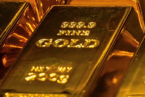 Payday Loans gold and black rectangular case