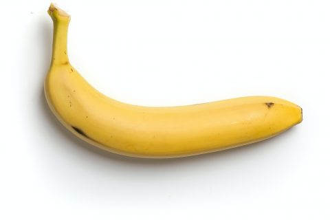 Eating Healthy Penis Extenders yellow banana on white background
