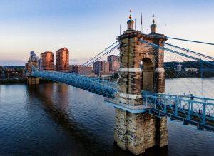 Ohio brown and blue concrete bridge