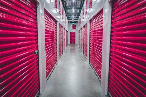 storage purple shutter doors